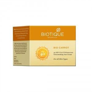 Buy Biotique Bio Carrot Ultra Soothing Face Cream 40+ SPF UVA/UVB Sunscreen - Nykaa