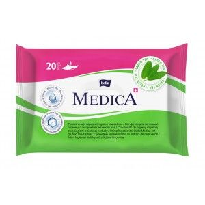 Buy Bella Medica Feminine Wet Wipes With Green Tea Extract 20Pcs - Nykaa