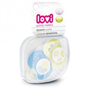 Buy Lovi Dynamic Soother Silicone 6-18 Months (Trendy) Blue & Green - Nykaa