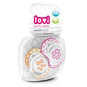 Buy Lovi Dynamic Soother Silicone 3-6 Months (Basic) Pink & Orange - Nykaa
