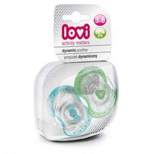 Buy Lovi Dynamic Soother Silicone 3-6 Months (Spark) Blue & Green - Nykaa
