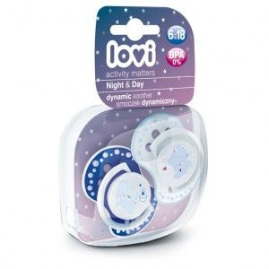 Buy Lovi Dynamic Soother Silicone 6-18 Month (Night&Day) Blue (Glows in the Dark) - Nykaa