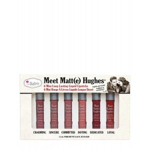 Buy theBalm Meet Matt(e) Hughes Long Lasting Liquid Lipsticks - Pack Of 6 - Nykaa