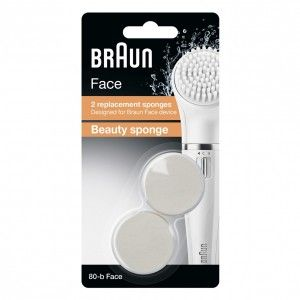 Buy Braun Face 80B Beauty Sponge Brush Refills - Pack of 2 - Nykaa