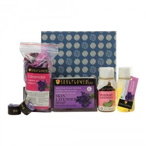 Buy Soulflower Lavender Try Me Bath Set - Nykaa