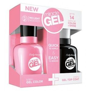 Buy Sally Hansen Miracle Gel Dual Pack - 2xvolume Top Coat + Pink Cadillaquer - Nykaa