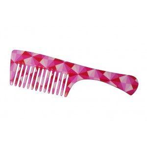 Buy FeatherFeel Printed Pink Mosaic Handle Comb - Nykaa