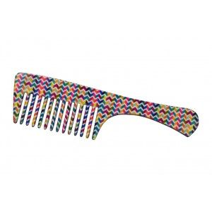 Buy FeatherFeel Printed Italian Weave Handle Comb - Nykaa