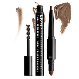 Buy NYX Professional Makeup 3-In-1 Brow Pencil - Nykaa