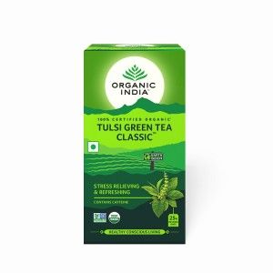 Buy Organic India Tulsi Green Tea Classic Bags - Nykaa