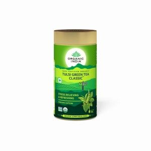 Buy Organic India Tulsi Green Tea Classic - Nykaa