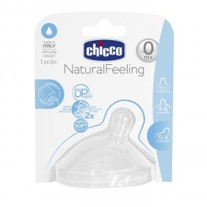 Buy Chicco Natural Feeling Regular Flow Teat (0M+) - Nykaa