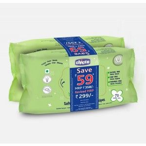 Buy Chicco Bipack Baby Moments Wipes 72 X 2 Pcs (Rs 59 off) - Nykaa