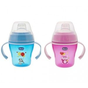 Buy Chicco Soft Cup Pink And Blue (6M+) - Nykaa