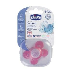Buy Chicco Physio Comfort Silicone Soother (6-12M) - Pink - Nykaa