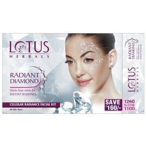 Buy Lotus Herbals Radiant Diamond Cellular Radiance Facial Kit Save Rs.160 - Nykaa