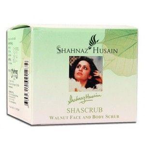 Buy Shahnaz Husain Shascrub - Walnut Face & Body Scrub - Nykaa