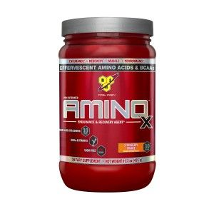 Buy BSN Amino X Muscle Recovery Supplement (Strawberry Orange) - 30 Servings - Nykaa