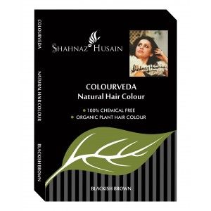 Buy Shahnaz Husain Colourveda Natural hair Colour + Free Applicator, Gloves & shower Cap With This Pack - Nykaa