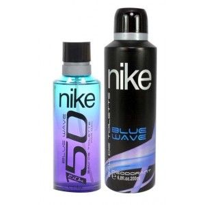 Buy Nike 150 On Blue Wave Gift Set For Men (EDT 150 ml+ Deo 200 ml) - Nykaa