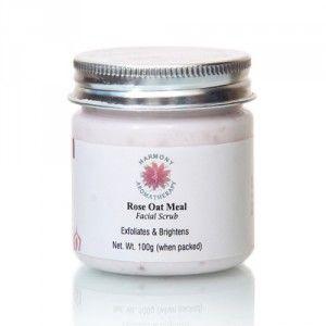 Buy Harmony Aromatherapy Rose Oat Meal Facial Scrub - Nykaa
