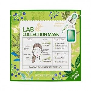 Buy DearPacker Lab Collection Mask - Anti-Blemish & Pore Care - Nykaa