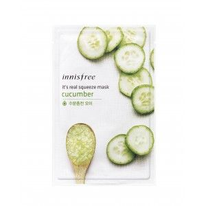 Buy Innisfree It's Real Squeeze Mask - Cucumber - Nykaa