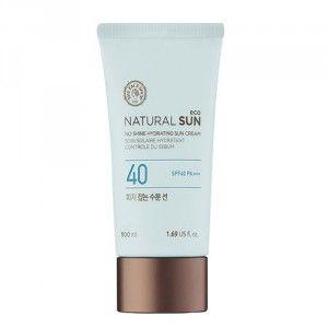 Buy The Face Shop Natural Sun Eco Sebum Control Hydrating Sun Cream - Nykaa
