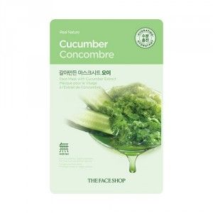 Buy The Face Shop Real Nature Cucumber Face Mask - Nykaa