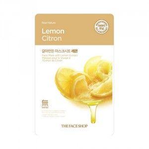 Buy The Face Shop Real Nature Lemon Face Mask - Nykaa