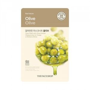 Buy The Face Shop Real Nature Olive Face Mask - Nykaa