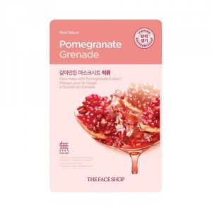 Buy The Face Shop Real Nature Pomegranate Face Mask - Nykaa