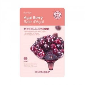 Buy The Face Shop Real Nature Acai Berry Face Mask - Nykaa