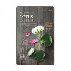 Buy The Face Shop Real Nature Lotus Face Mask - Nykaa