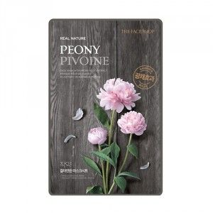 Buy The Face Shop Real Nature Peony Face Mask - Nykaa