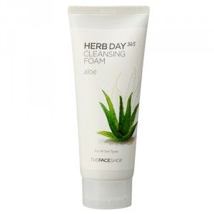 Buy The Face Shop Herb Day 365 Cleansing Foam Aloe - Nykaa