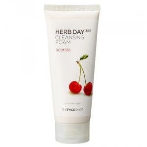 Buy The Face Shop Herb Day 365 Cleansing Foam Acerola - Nykaa