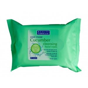 Buy Beauty Formulas Cool Moist Cucumber Cleansing Facial Wipes - Nykaa