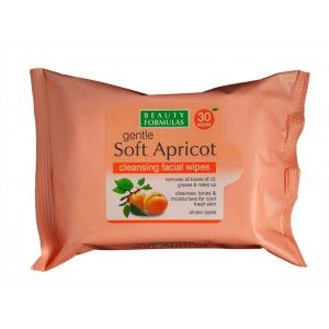 Buy Beauty Formulas Gentle Soft Apricot Cleansing Facial Wipes - Nykaa
