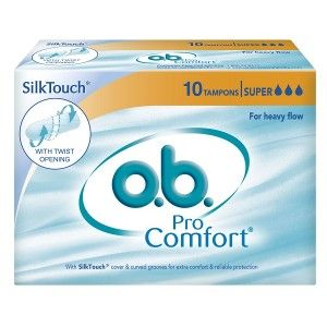 Buy O.B. Pro Comfort Tampons Super - For Heavy Flow (10 Pieces) - Nykaa