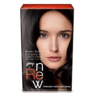 Buy Godrej Renew Crème Hair Colour - Natural Black (50 ml) - Nykaa