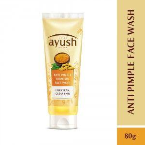 Buy Lever Ayush Anti Pimple Turmeric Face Wash - Nykaa