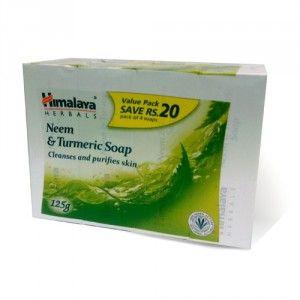 Buy Himalaya Herbals Neem & Turmeric Soap Pack Of 4 (Save Rs.20/-) - Nykaa