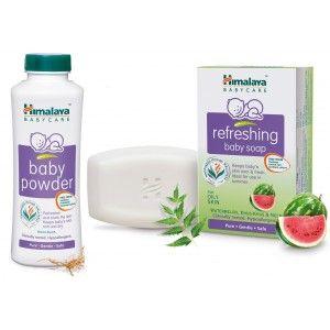 Buy Himalaya Baby Care Baby Powder With Free Refreshing Baby Soap - Nykaa