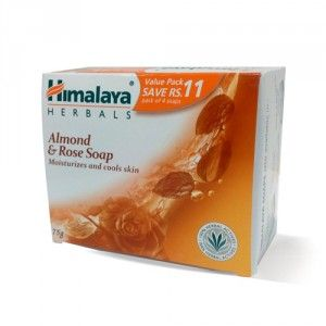 Buy Himalaya Herbals Almond & Rose Soap Pack of 4(Save Rs.11/-) - Nykaa