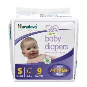Buy Himalaya Baby Care Baby Diapers Small - 9S Diapers - Nykaa