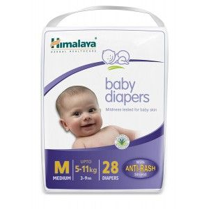 Buy Himalaya Baby Care Baby Diapers Medium - 28 Diapers - Nykaa