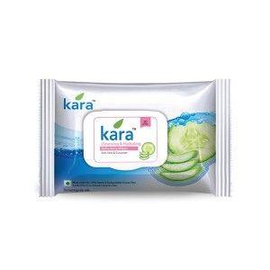 Buy Kara Refreshing Face Wipes With Cucumber And Aloe Vera (30 Wipes) - Nykaa