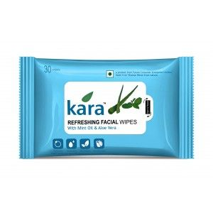 Buy Kara Refreshing Face Wipes With Mint Oil And Aloe Vera (30 Wipes) - Nykaa