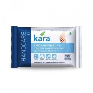 Buy Kara Hand Sanitizing Wet Wipes With Triclosan And Aloe Vera (10 Wipes) - Nykaa